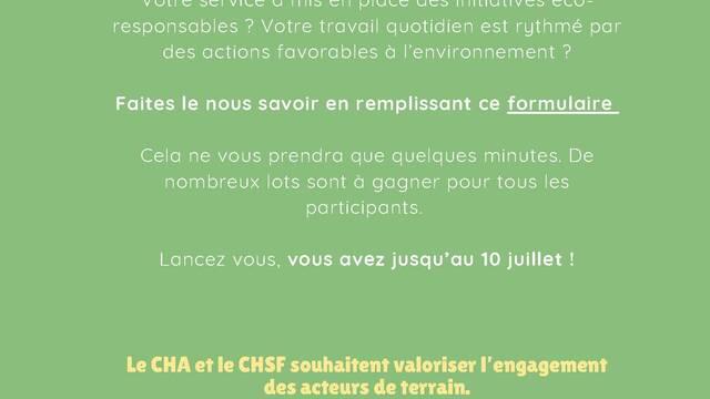 Concours du développement durable CHA-CHSF